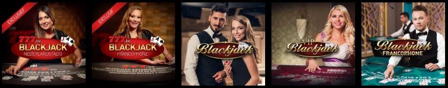 Blackjack in het live casino